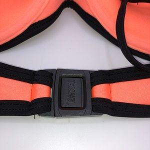triangl swimwear Swim - Triangle Bikini Top Neoprene Black Orange Size XL